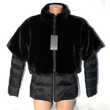 Piumino donna Pelliccia ecopiuma 2 giacche nero taglia L eco piuma pellicciotto