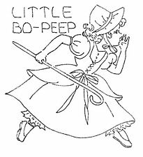Vintage Embroidery Transfer repo 8086 Mother Goose for a Quilt or Bedspread