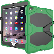 """Shockproof Hard Rubber Impact Case Cover with stand for Ipad 5 2017 5th Gen 9.7"""""""