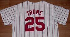 Jim Thome Phiadelphia Phillies Jersey Youth Medium 10-12 Home Pinstripes New MLB