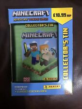 More details for panini minecraft adventure trading cards collector's tin 32 cards + 1 limited ed