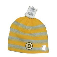 New NHL CCM Boston Bruins Men's WInter Hat Hockey Reversible Yellow Beanie Toque