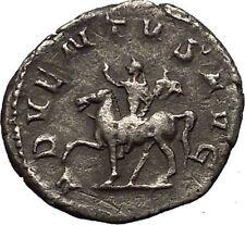 TRAJAN DECIUS on horse 249AD Silver Authentic Ancient  Roman Coin i52317