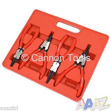"""Snap Ring Plier Set Cir Clip Internal & External 7"""" Long Comfort Grip"""