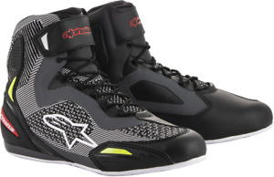 Faster 3 Rideknit Riding Shoes Alpinestars Black Gray Red Yellow Fluo 11