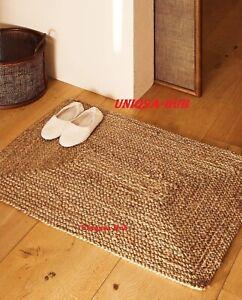 Rug 100% Natural Jute 2x4 Feet Runner Rug Braided style Reversible Floor Carpet
