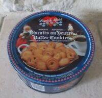 Ancienne boite métal Biscuits au beurre Danois Danish Maid France candy vtg
