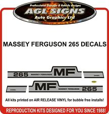 MASSEY FERGUSON 265 TRACTOR DECAL SET, reprocduction