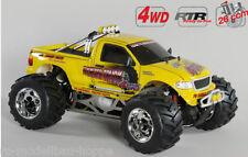 FG modellsport Monstertruck WB535 RTR JAUNE 26ccm carburant moteur 24010r