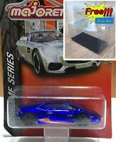 Majorette Lamborghini Huracan LP 610-4 Blue Chrome 1:64 219F Free Display Box