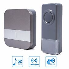Wireless DoorBell Kit With Remote Push Button 1 Plug In Digital Cordless Door Be