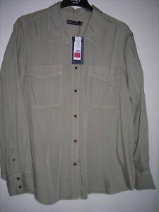 M&S Tencel Button Detailed Patch Pocket Shirt - Sage - Size 18 - BNWT