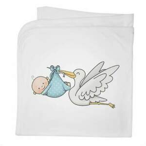 'New Baby Boy' Cotton Baby Blanket / Shawl (BY00012010)