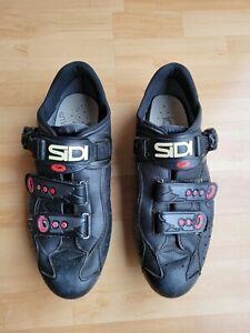 Sidi Genius 4 Black Lorica Road Bike Shoes Size 44