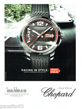 PUBLICITE ADVERTISING 066  2015  Chopard  montre racing Mille Miglia chronometer