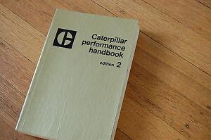 CAT Caterpillar 1972 Performance Handbook Edition 2 Manual vintage book two gold