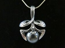 Sterling Silver Celtic Pendant w/ Hematite Ball Sphere Wiccan 925 11g NEW B99