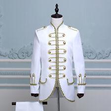 King Prince Renaissance Medieval Men Cosplay Costume Uniform Coat+Pants Full Set