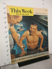 New listing newspaper ad 1956 THIS WEEK cover George Breen Olympic swimmer swimming pool