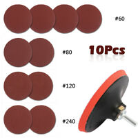 10pc 125mm Mixed Sanding Discs Angle Grinder Rubber Backing Pad Sander Hook Loop
