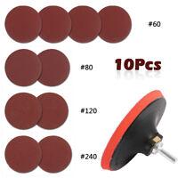 10 Drill/meuleuse d'angle Mont 125mm Niveau mixte Disque ponçage +caoutchouc Pad