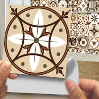 20pcs Moroccan Style Tile Wall Stickers Kitchen Bathroom Self-Adhesive Mosaic