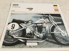 Fiche moto collection Atlas motorcycle card Ardie 250 cc Silberfuchs 1931