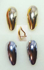 2 pairs NON PIERCED INTERCHANGEABLE Clip On Omega Earrings 1 Gold, 1 Silver USA