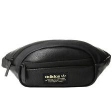 Unisex Adidas Originals National Waist Bag/Fanny Pack Synthetic Leather Black