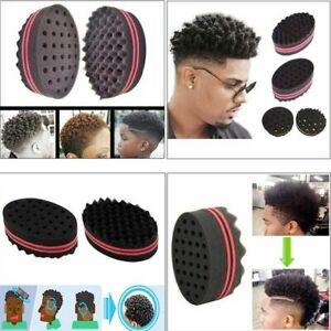 Hair Sponge Brushes Multi-holes Side Braid Twist Curl Double Sided Wave Styling