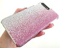 iPhone 7/8 Case Made with Faded Pink Rose Swarovski Crystal Bling Luxury Cover