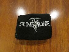 Authentic Punchline Band Wristband Punk Sweatband Stitched