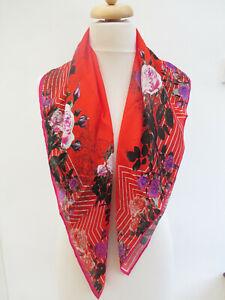 L.K.Bennett  Floral 100%Silk Square Scarf RRP £85 - PRETTY!! New!