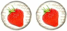 Bassin and Brown Mens Strawberry Cufflinks - Red