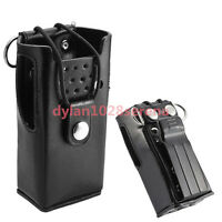 Hard Leather Carrying Case For Motorola 2-Way Radio GP88S CT250 P080