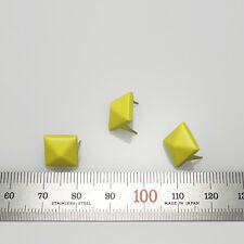 "100pcs Pyramid studs Diameter 3/8""(10mm) DIY Rock Punk stuffs yellow reform"