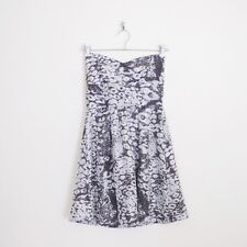$99 MinkPink Silver Leopard Animal Print Sweetheart Strapless Party Mini Dress M