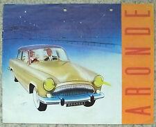 SIMCA ARONDE Car Sales Brochure 1961 ELYSEE Montlhery MONACO Oceana CHATELAIRE +