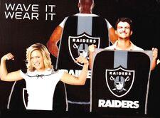 """OAKLAND RAIDERS FAN FLAG CAPE NFL 31.5""""X 47"""" TEAM BANNER """"WAVE IT OR WEAR IT"""""""