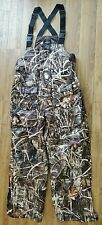 Red Head Bone Dry  Mens Insulated Camo Hunting Overalls Bib Size L Large