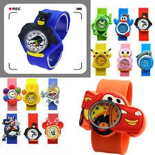 For Girls Kids Children Party Gift Wrist SuperHero cartoon slap silicone Watch