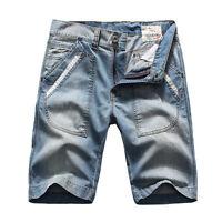 FOX JEANS Men's Tony Light Blue Denim Shorts Mens Jeans Shorts SIZE 32-44