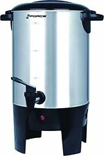 GForce Luxury 40-Cup Coffeemaker and Hot Water Urn, Stainless Steel