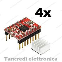 4x Driver A4988 motori stepper passo passo incisione cnc (Arduino-Compatibile)