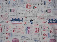 HANDLE WITH CARE, Transportation/Directions, Robert Kaufman Fabric, 1 Yard