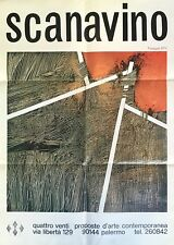 Scanavino Emilio, Poster. Galleria Quattro Venti, Palermo, 1973