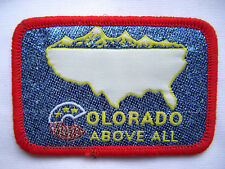 ⭐️ Vintage COLORADO State Above All PATCH Souvenir Travel Embroidered ⭐️