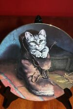 "Victorian Cat Capers ""Puss in Boot"" Plate, Limited Edition Rare Low #39a"