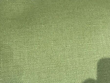 LAURA ASHLEY GREEN COTTON TWILL UPHOLSTERY FABRIC x 11.5 METRES
