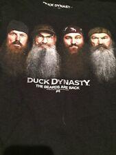 Duck Dynasty Si Phil Jase Willie Robertson Medium Beards Are Back Black Tshirt